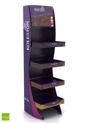DISPLAY-CHAO-HAIR-CABELOS-KOLESTON-EXPOSITOR-DESMONTAVEL-TINTURA-PEG-LEGAS-DISPLAYS