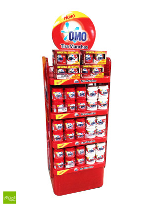 DISPLAY-CHAO-OMO-UNILEVER-EXPOSITOR-METAL-VACUUM-LEGAS-DISPLAYS
