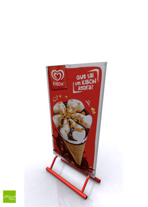 DISPLAY-CHAO-PORTA-CARTAZ-TOTEM-UNILEVER-FOODS-KIBON-METAL-LEGAS-DISPLAYS