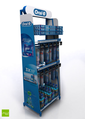 DISPLAY-CHAO-UNILIDER-ORAL-B-PEG-EXPOSITOR-ARAMADO-LEGAS-DISPLAYS