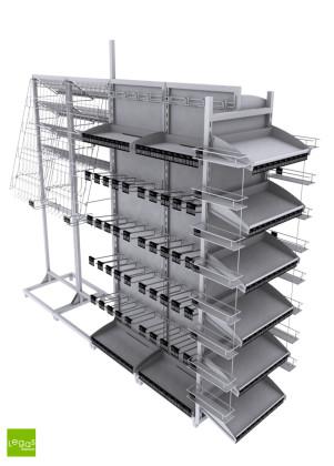 checkstand-walmart-checkou-modular-completo-metal-padrao-legas-displays